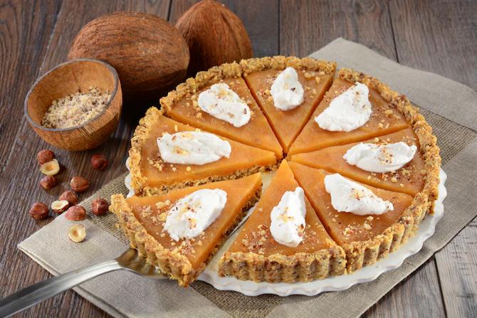 Веганский пирог с кокосовой пеной