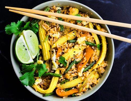как сделать жареный рис