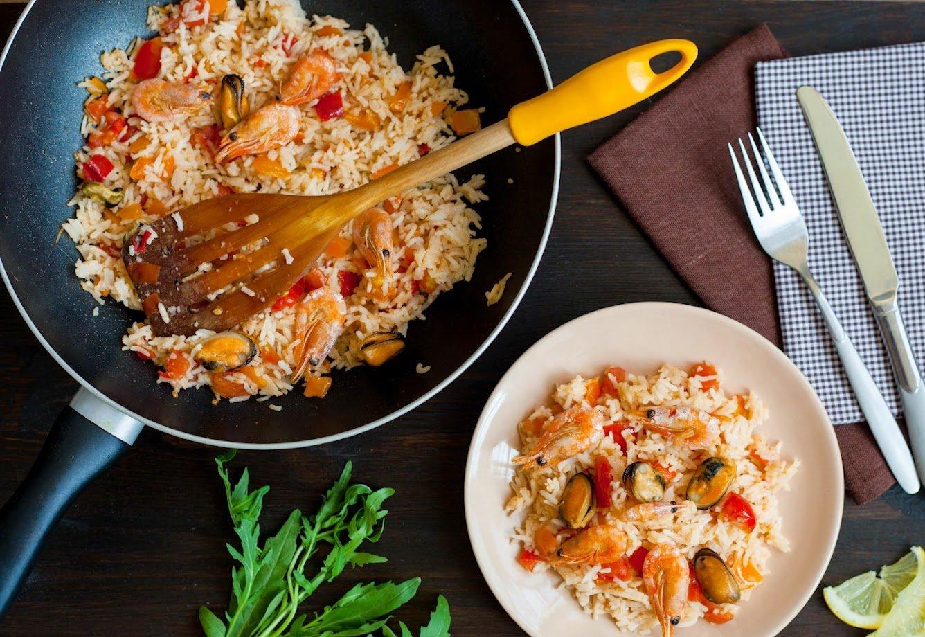 как приготовить жареный рис