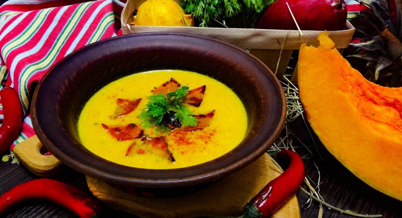 Бархатные супы из тыквы