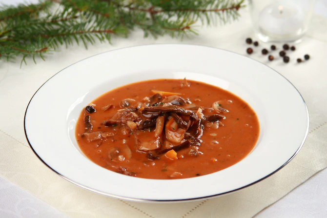 Грибной суп в кастелланском стиле