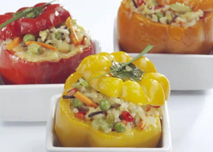 Запеченный перец с вегетарианской начинкой