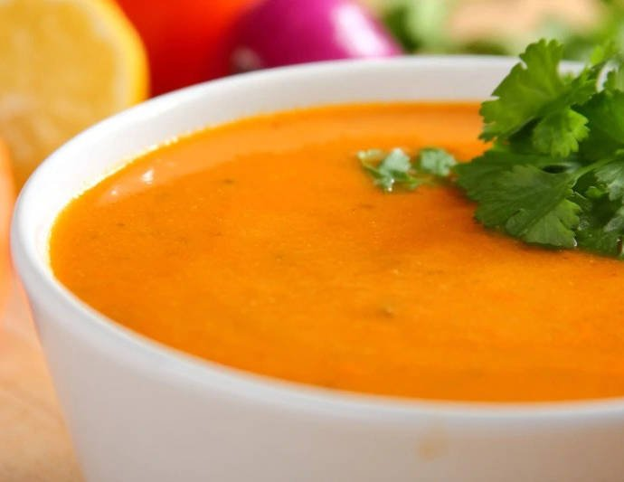Запеченный суп из баклажанов