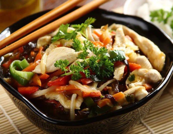 Курица по-китайски с замороженными овощами