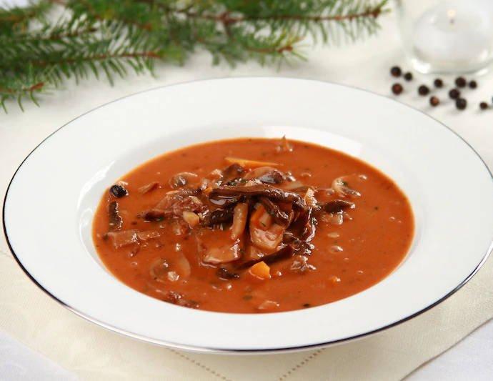 Грибной суп по-кастелянски