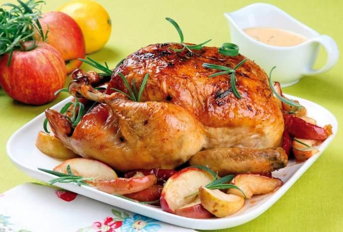 При какой температуре запечь курицу — целиком или по частям?