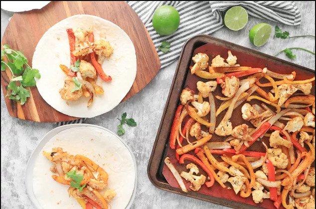 Рецепт фахитаса из цветной капусты в листовой сковороде