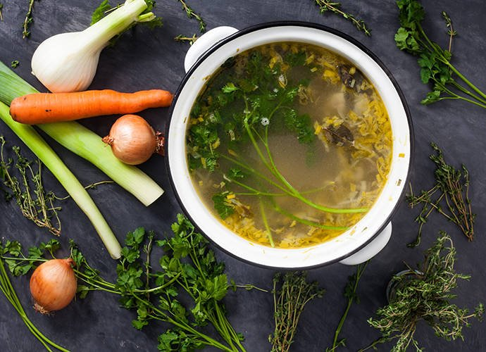 Как приготовить лучший овощной бульон