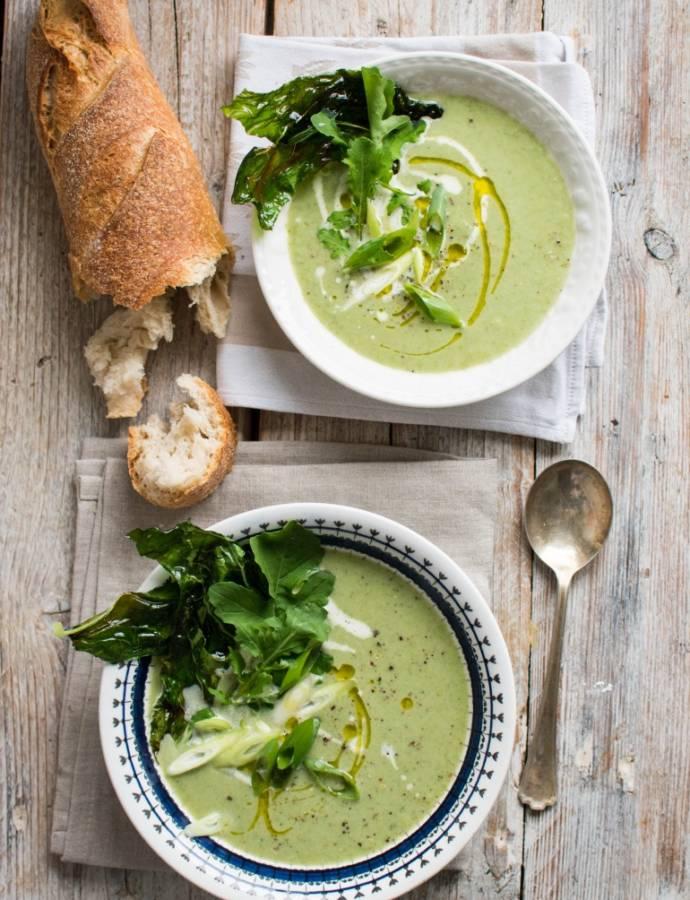 Суп из цветной капусты с рукколой